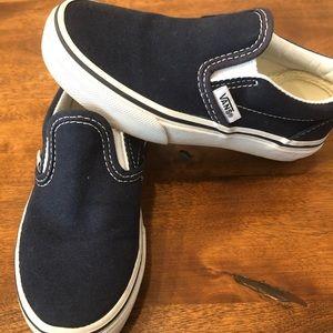 Vans. Navy blue. Toddler size 11